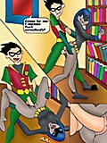 Teen titans hot porn orgy in library
